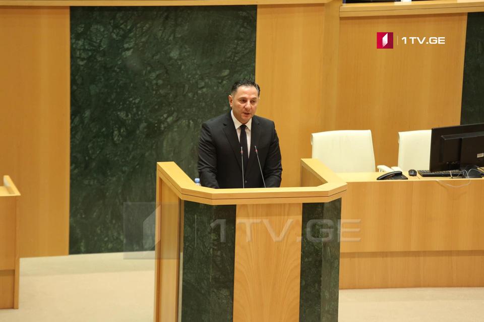 В парламенте Грузии заслушают министра внутренних дел Вахтанга Гомелаури