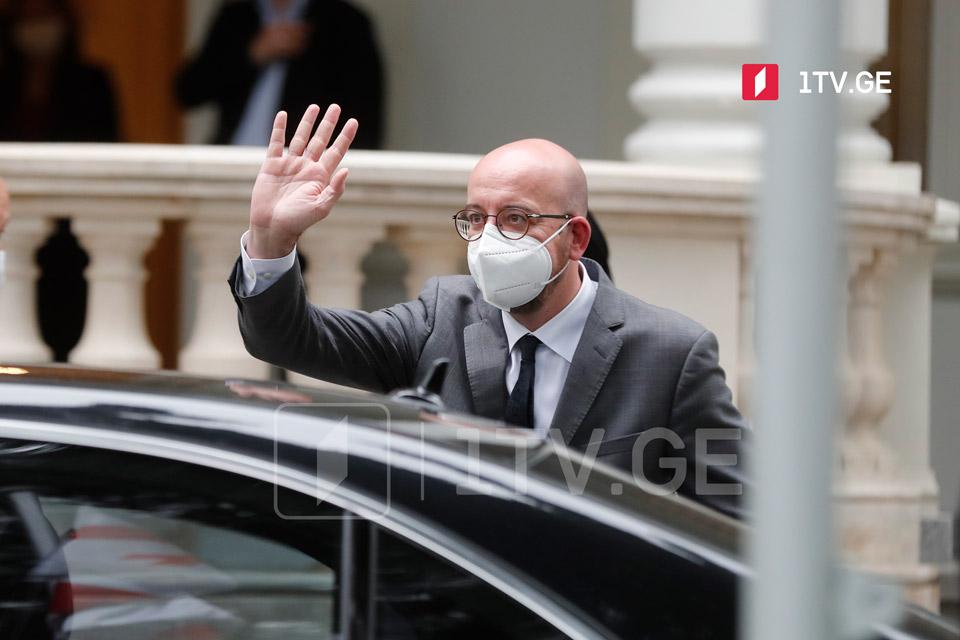 Шарль Мишель прибыл в Грузию