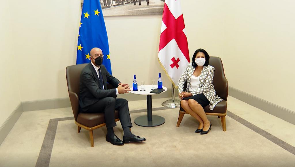 Georgian President meets European Council President