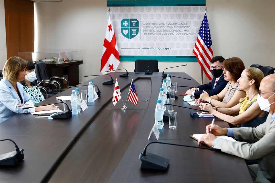 Health Minister,US Ambassador discuss vaccination process in Georgia