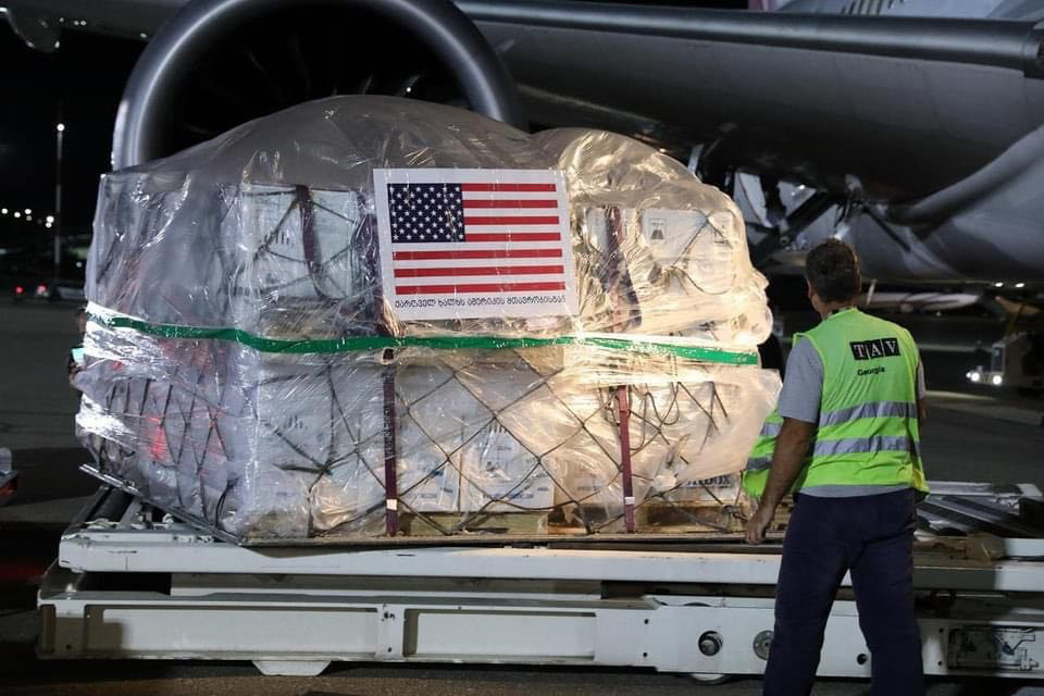 US-gifted half a million Pfizer vaccine shots arrive in Tbilisi