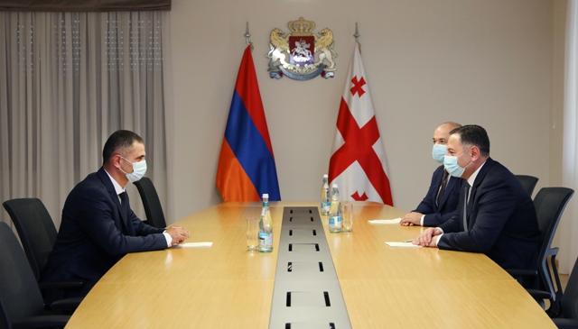 Վրաստանի ՆԳ նախարարը հանդիպել է Հայաստանի սահմանապահ զորքերի հրամանատարին