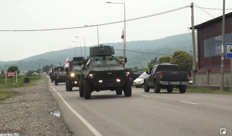 Georgian armored vehicles to involve inAgile Spirit 2021