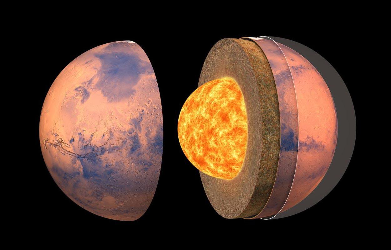 """ხომალდ """"ინსაითის"""" მონაცემებით, მეცნიერებმა მარსის წიაღის სტრუქტურის პირველი დეტალური რუკა შექმნეს — #1tvმეცნიერება"""