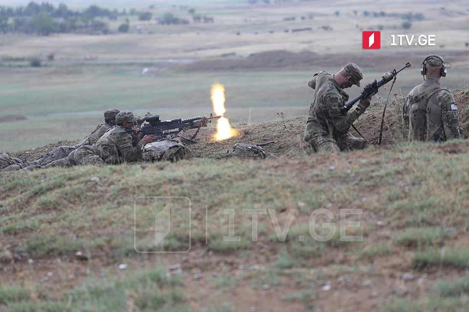 """მრავალეროვნული სამხედრო წვრთნები """"მტკიცე სული 2021"""" დღეს ვაზიანში გაიმართა [ფოტო]"""
