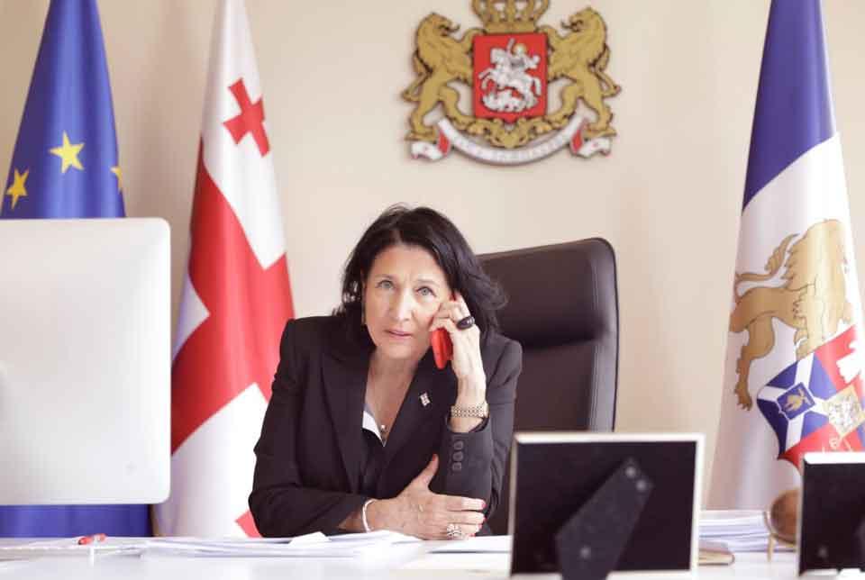 Саломе Зурабишвили Бырзентәыла ахада ҭелла длацәажәеит