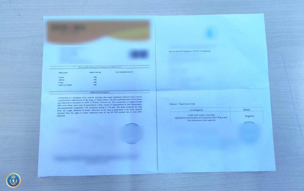 Следственная служба задержала человека за изготовление поддельных документов PCR-исследования