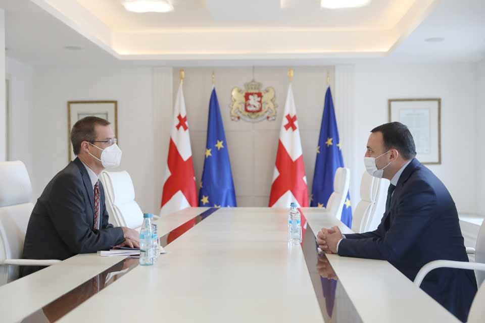 Ираклий Гарибашвили встретился с Чрезвычайным и Полномочным Послом Австрии