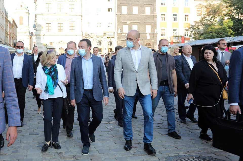 Ukrainian PM hosts Georgiancounterpart in Lviv