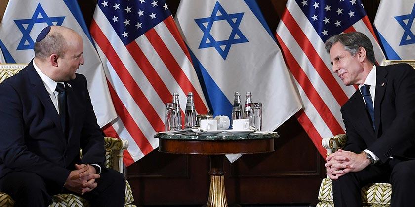 აშშ-ში ვიზიტით მყოფმა ისრაელის პრემიერ-მინისტრმა ენტონი ბლინკენთან შეხვედრა გამართა