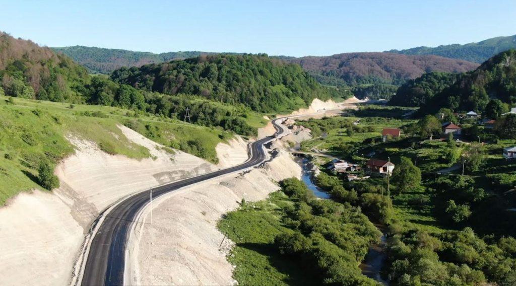 ირაკლი ქარსელაძემ ზემო იმერეთი-რაჭის დამაკავშირებელი გზის მშენებლობა-რეკონსტრუქციის სამუშაოები დაათვალიერა