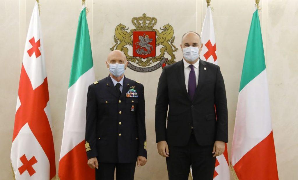 საქართველოს ოფიციალური ვიზიტით იტალიის თავდაცვის ძალების მეთაური ესტუმრა