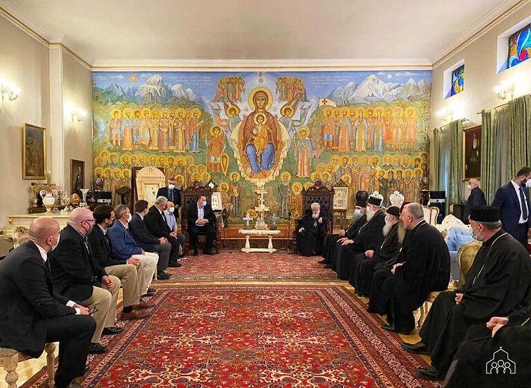 ილია მეორემ საპატრიარქოში აშშ-ის კონგრესმენთა დელეგაციას უმასპინძლა