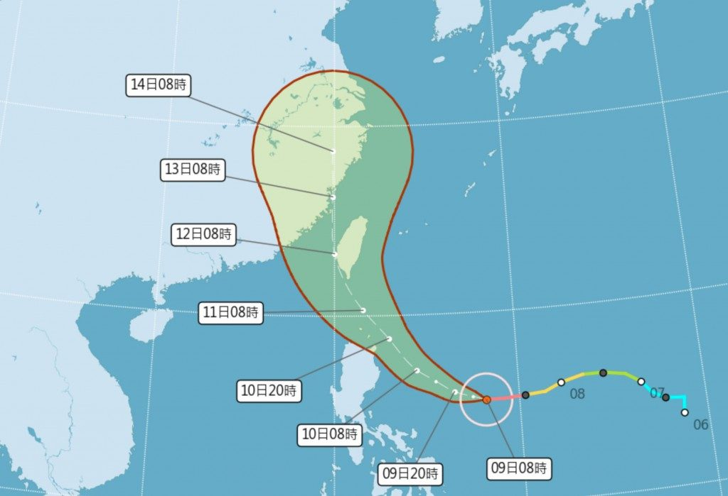 """იაპონიას სამხრეთიდან სუპერ ტაიფუნი """"ჩიანტუ"""" უახლოვდება"""