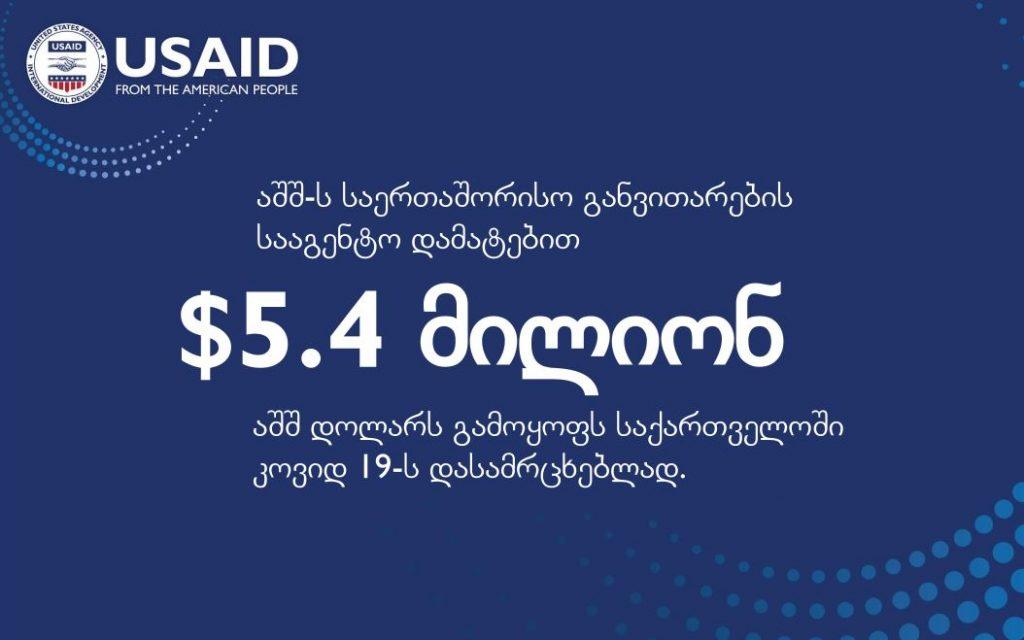 Акоронавирус аҿагыларазы, USAID Қырҭтәыла даҽа 5,4 миллион адоллар азоунашьҭуеит
