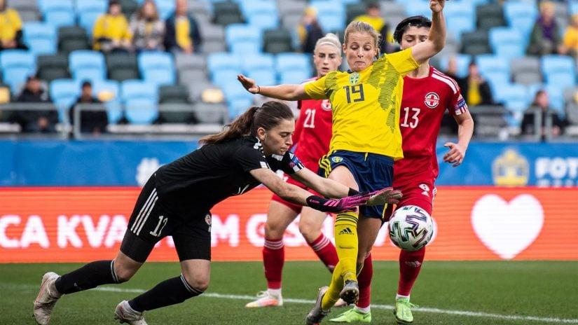 საქართველოს ქალთა ნაკრებმა ოლიმპიურ ვიცე-ჩემპიონ შვედეთთან ბოლომდე იბრძოლა #1TVSPORT