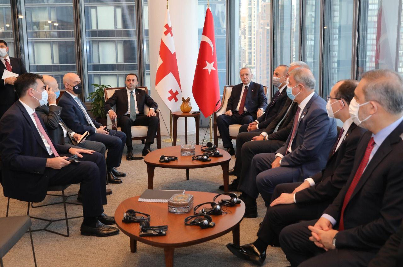 ირაკლი ღარიბაშვილი - ნაყოფიერი საუბარი შედგა თურქეთის რესპუბლიკის პრეზიდენტ რეჯეფ თაიფ ერდოღანთან ორმხრივი და რეგიონული თანამშრომლობის საკითხებზე