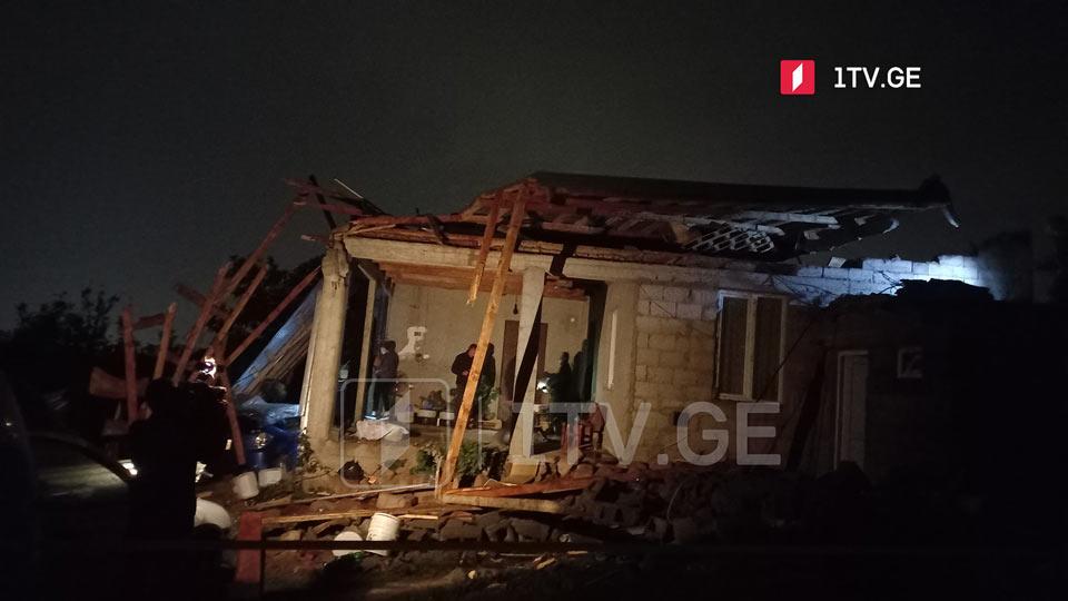 სამგორის რაიონის სოფელ ნასაგურში წვიმის შედეგად ხუთი საცხოვრებელი სახლი დაზიანდა