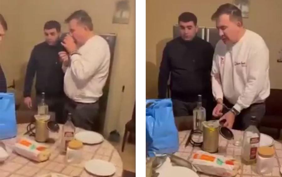 Sosial şəbəkələrdə Mixeil Saakaşvilinin saxlanılmasının video görüntüləri yayılıb (VİDEO)